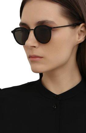 Женские солнцезащитные очки MYKITA черного цвета, арт. PAULS0N/BLACK/BLACK/GREY S0LID 909 | Фото 2 (Тип очков: С/з; Оптика Гендер: оптика-унисекс; Очки форма: Круглые)