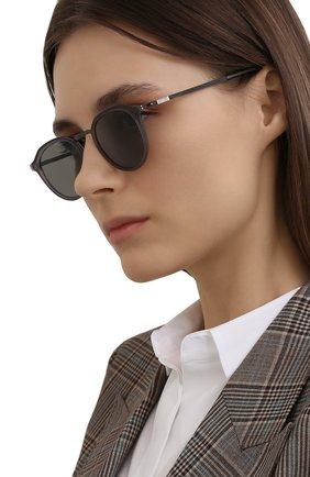 Женские солнцезащитные очки MYKITA темно-серого цвета, арт. PAULS0N/SGP/MATTESM0KE/GREY S0LID 897 | Фото 2 (Тип очков: С/з; Очки форма: Круглые; Оптика Гендер: оптика-унисекс)