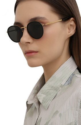Женские солнцезащитные очки MYKITA черного цвета, арт. TUVA/GL0SSYG0LD/BLACK/DARKGREY S0LID 945 | Фото 2 (Оптика Гендер: оптика-унисекс; Тип очков: С/з; Очки форма: Круглые)