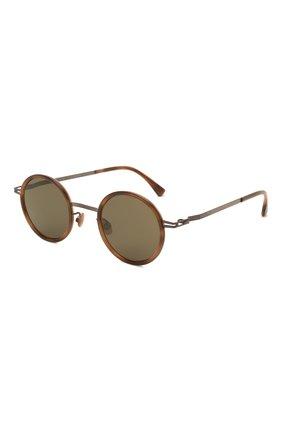 Женские солнцезащитные очки MYKITA коричневого цвета, арт. EETU/M0CCA/ZANZIBAR/RAWGREEN S0LID 856 | Фото 1 (Оптика Гендер: оптика-унисекс; Тип очков: С/з; Очки форма: Круглые)
