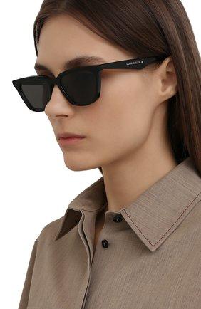 Женские солнцезащитные очки GENTLE MONSTER черного цвета, арт. AGAIL 01 | Фото 2