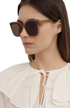 Женские солнцезащитные очки GENTLE MONSTER коричневого цвета, арт. FRIDA BRC1 | Фото 2
