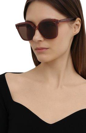 Женские солнцезащитные очки GENTLE MONSTER бордового цвета, арт. RICK BC4 | Фото 2