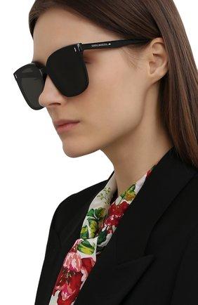 Женские солнцезащитные очки GENTLE MONSTER черного цвета, арт. FRIDA 01 | Фото 2
