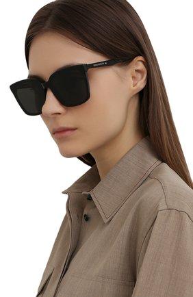 Женские солнцезащитные очки GENTLE MONSTER черного цвета, арт. TEGA 01 | Фото 2