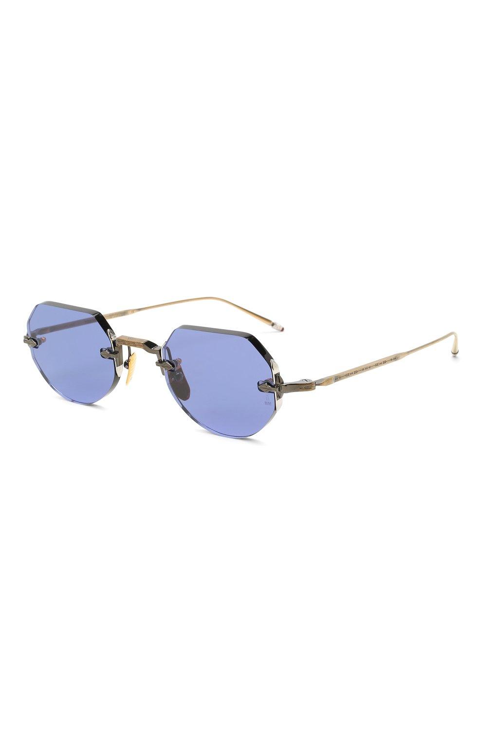 Женские солнцезащитные очки JACQUES MARIE MAGE синего цвета, арт. C0DY JMMCY-47 (II)   Фото 1 (Тип очков: С/з; Очки форма: Овальные, Круглые; Оптика Гендер: оптика-унисекс)