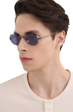 Женские солнцезащитные очки JACQUES MARIE MAGE синего цвета, арт. C0DY JMMCY-47 (II)   Фото 3 (Тип очков: С/з; Очки форма: Овальные, Круглые; Оптика Гендер: оптика-унисекс)