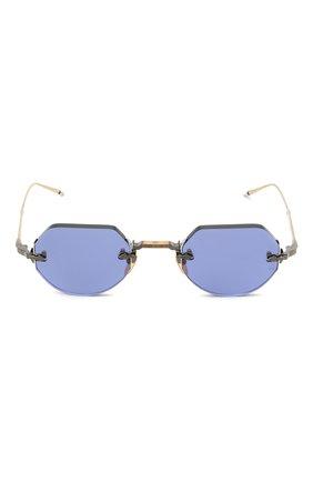 Женские солнцезащитные очки JACQUES MARIE MAGE синего цвета, арт. C0DY JMMCY-47 (II)   Фото 4 (Тип очков: С/з; Очки форма: Овальные, Круглые; Оптика Гендер: оптика-унисекс)