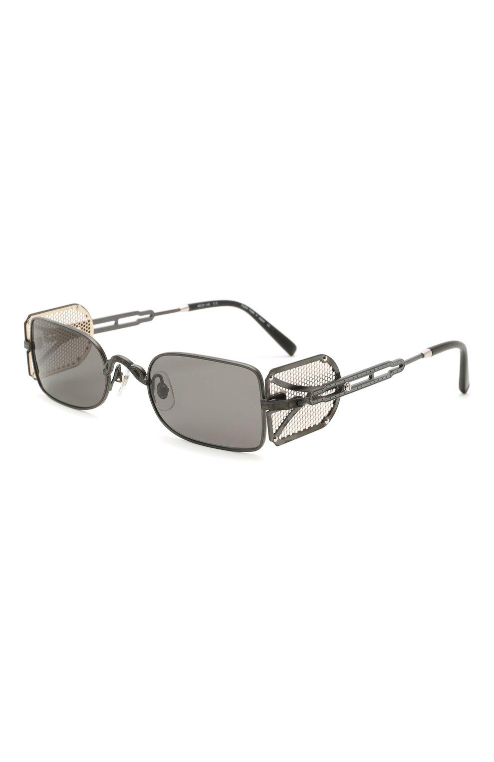Женские солнцезащитные очки MATSUDA темно-серого цвета, арт. 10611H MBK-BG | Фото 1 (Тип очков: С/з; Очки форма: Овальные, Круглые; Оптика Гендер: оптика-унисекс)