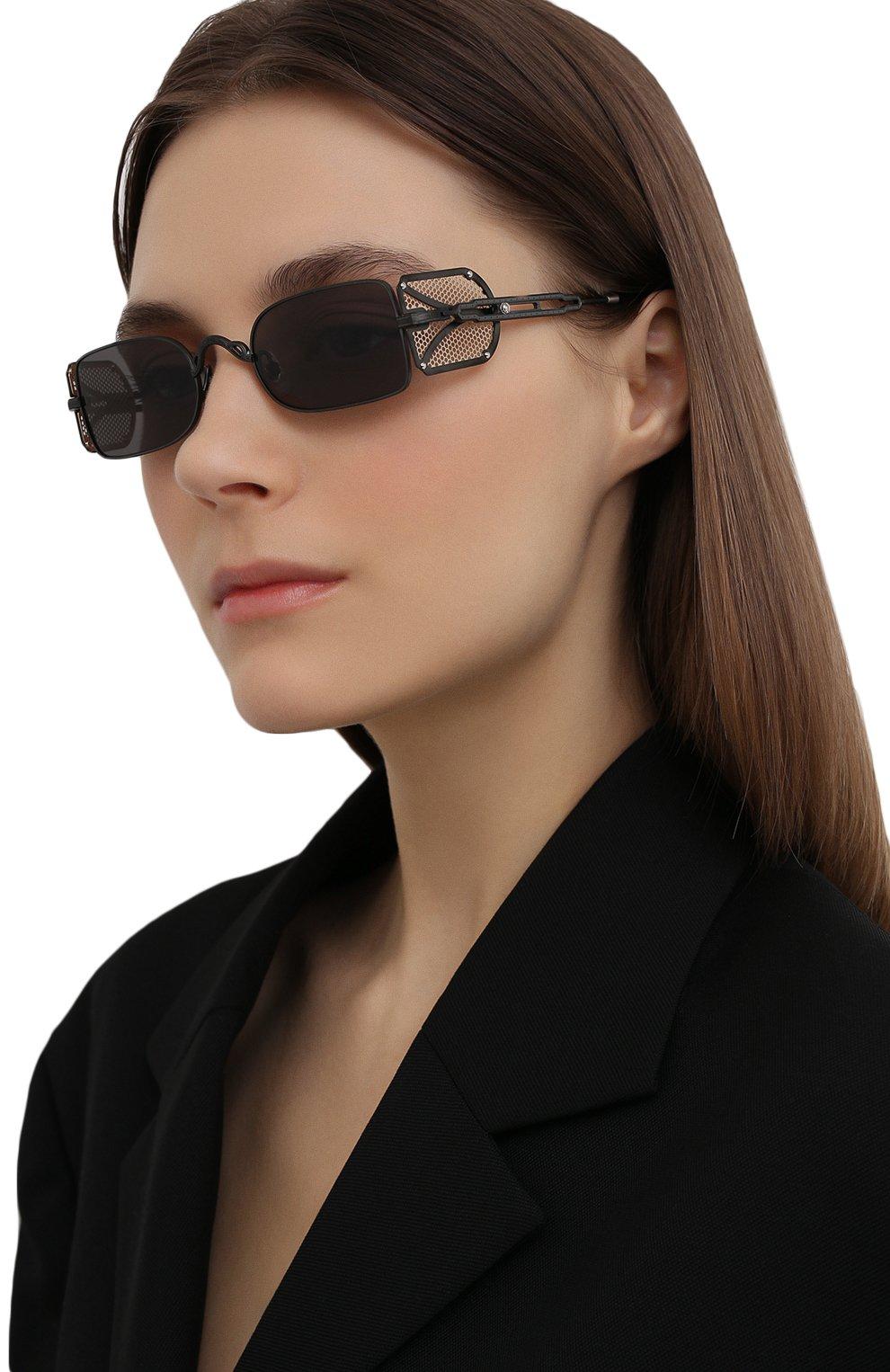 Женские солнцезащитные очки MATSUDA темно-серого цвета, арт. 10611H MBK-BG | Фото 2 (Тип очков: С/з; Очки форма: Овальные, Круглые; Оптика Гендер: оптика-унисекс)