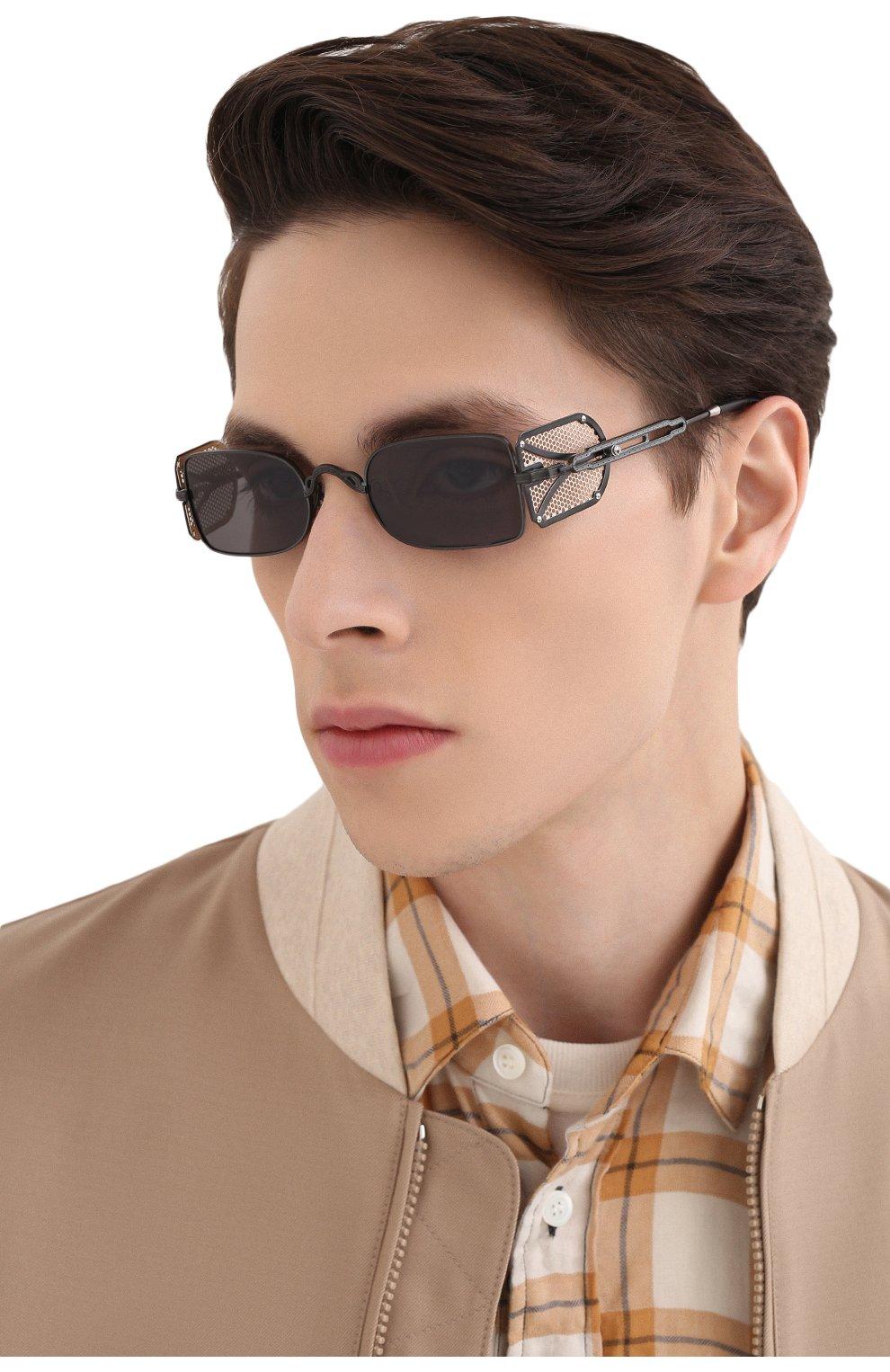 Женские солнцезащитные очки MATSUDA темно-серого цвета, арт. 10611H MBK-BG | Фото 3 (Тип очков: С/з; Очки форма: Овальные, Круглые; Оптика Гендер: оптика-унисекс)