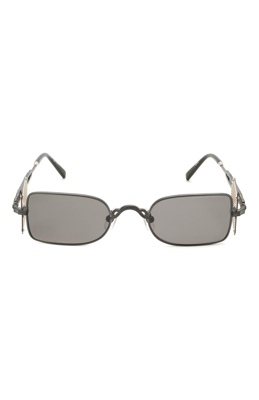 Женские солнцезащитные очки MATSUDA темно-серого цвета, арт. 10611H MBK-BG | Фото 4 (Тип очков: С/з; Очки форма: Овальные, Круглые; Оптика Гендер: оптика-унисекс)