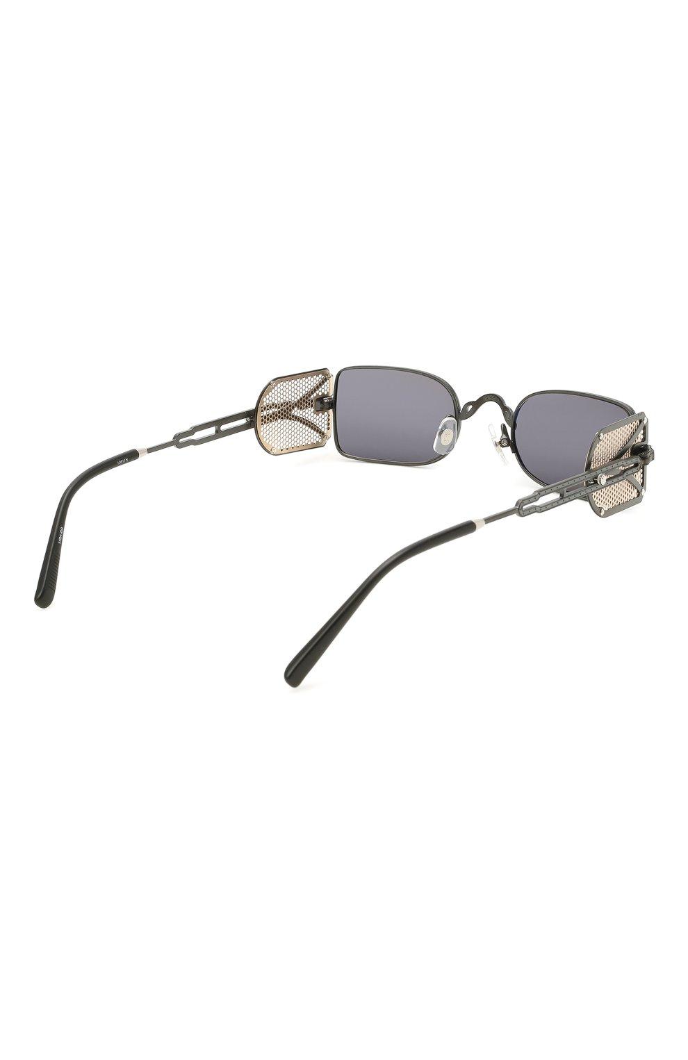 Женские солнцезащитные очки MATSUDA темно-серого цвета, арт. 10611H MBK-BG | Фото 5 (Тип очков: С/з; Очки форма: Овальные, Круглые; Оптика Гендер: оптика-унисекс)