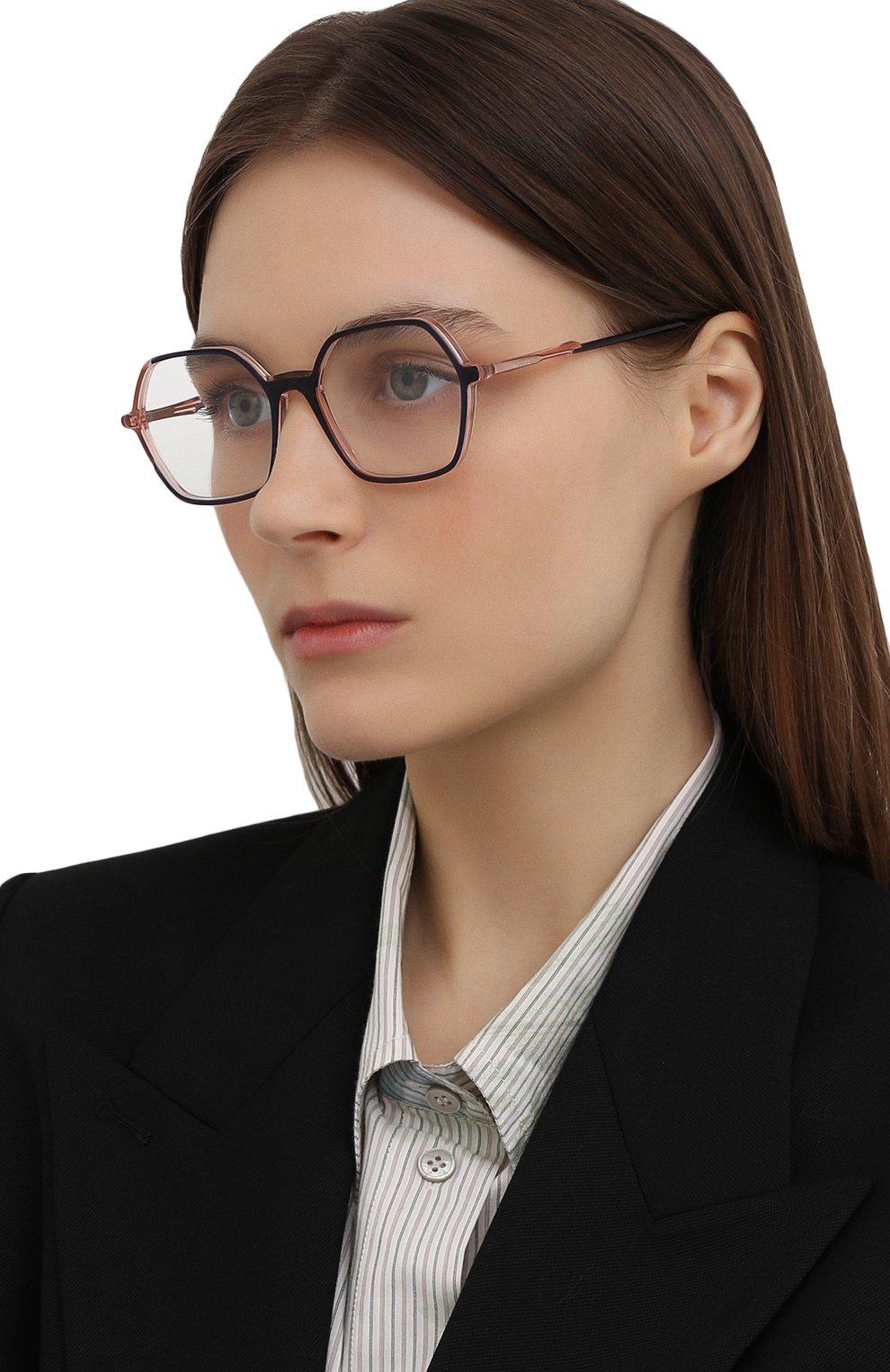 Женские оправа CAROLINE ABRAM синего цвета, арт. CHARL0TTE 664 | Фото 2 (Оптика Гендер: оптика-женское; Тип очков: Оправа; Очки форма: Бабочка)