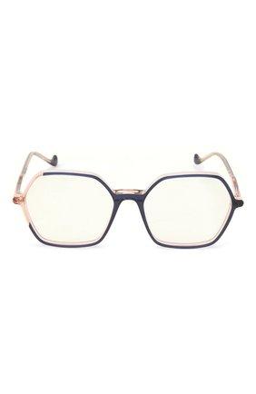 Женские оправа CAROLINE ABRAM синего цвета, арт. CHARL0TTE 664 | Фото 3 (Оптика Гендер: оптика-женское; Тип очков: Оправа; Очки форма: Бабочка)