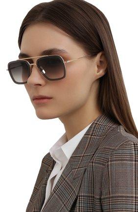 Женские солнцезащитные очки DITA серого цвета, арт. FLIGHT.006/7806H | Фото 2