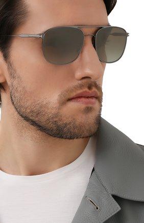 Мужские солнцезащитные очки TOM FORD серого цвета, арт. TF827 12Q | Фото 2 (Тип очков: С/з; Оптика Гендер: оптика-мужское; Очки форма: Авиаторы)