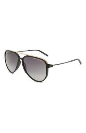 Мужские солнцезащитные очки PORSCHE DESIGN черного цвета, арт. 8912-A | Фото 1