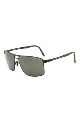 Мужские солнцезащитные очки PORSCHE DESIGN черного цвета, арт. 8918-A | Фото 1
