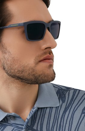 Мужские солнцезащитные очки DOLCE & GABBANA синего цвета, арт. 6151-329625 | Фото 2