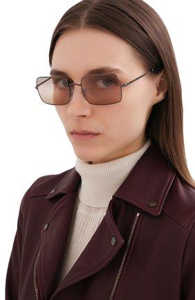 Женские солнцезащитные очки RAY-BAN коричневого цвета, арт. 1969-004/GC | Фото 2