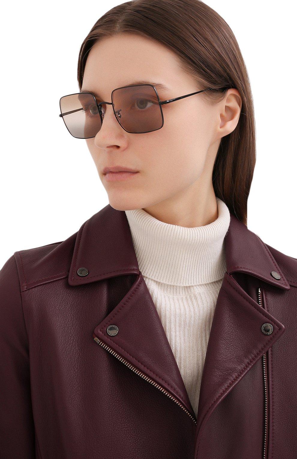 Женские солнцезащитные очки RAY-BAN черного цвета, арт. 1971-002/GG | Фото 2