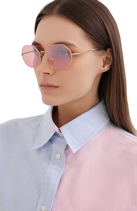 Женские солнцезащитные очки RAY-BAN розового цвета, арт. 1972-001/3E | Фото 2