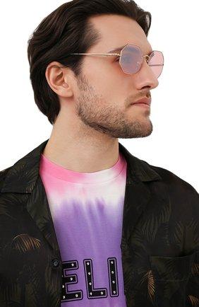 Женские солнцезащитные очки RAY-BAN розового цвета, арт. 1972-001/3E | Фото 3