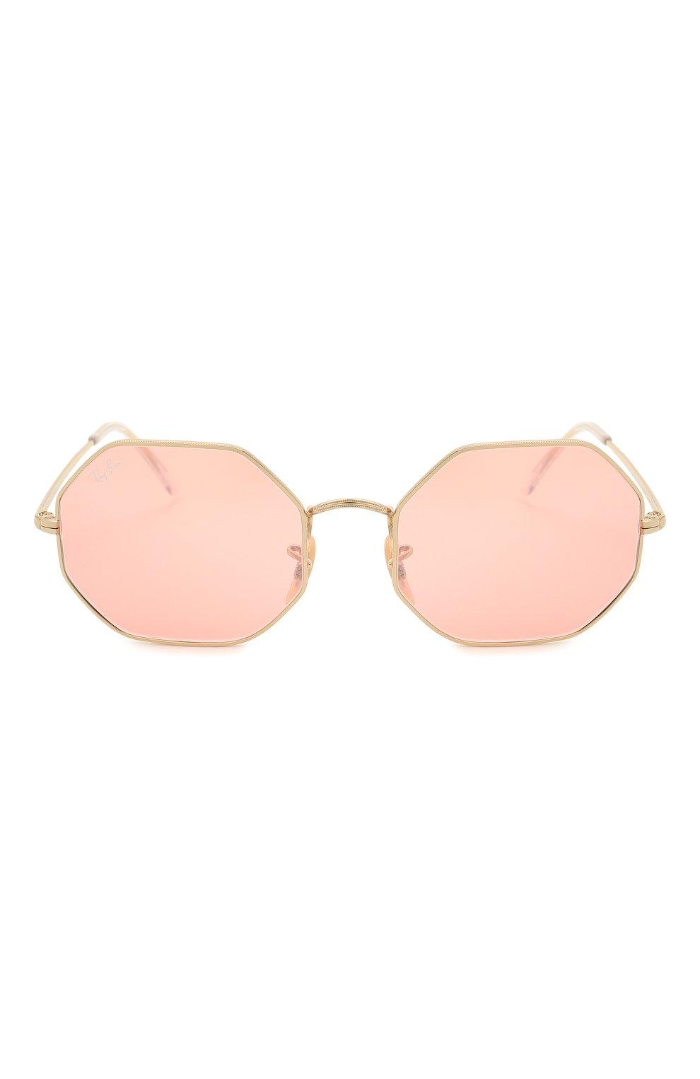Женские солнцезащитные очки RAY-BAN розового цвета, арт. 1972-001/3E | Фото 4