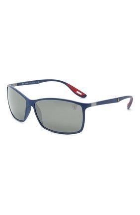 Мужские солнцезащитные очки RAY-BAN синего цвета, арт. 4179M-F6046G | Фото 1 (Оптика Гендер: оптика-мужское; Тип очков: С/з; Очки форма: Прямоугольные)