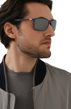 Мужские солнцезащитные очки RAY-BAN синего цвета, арт. 4179M-F6046G | Фото 2 (Оптика Гендер: оптика-мужское; Тип очков: С/з; Очки форма: Прямоугольные)