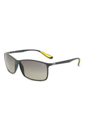Мужские солнцезащитные очки RAY-BAN серого цвета, арт. 4179M-F60811 | Фото 1 (Оптика Гендер: оптика-мужское; Тип очков: С/з; Очки форма: Прямоугольные)