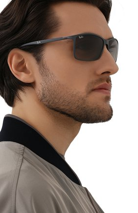 Мужские солнцезащитные очки RAY-BAN серого цвета, арт. 4179M-F60811 | Фото 2 (Оптика Гендер: оптика-мужское; Тип очков: С/з; Очки форма: Прямоугольные)