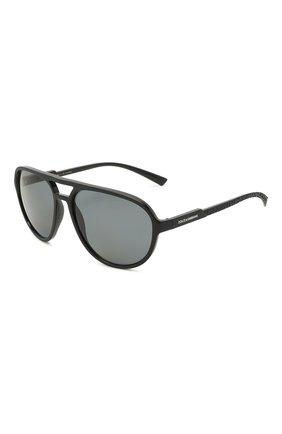 Мужские солнцезащитные очки DOLCE & GABBANA черного цвета, арт. 6150-252581 | Фото 1