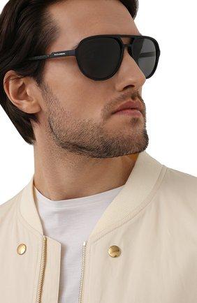 Мужские солнцезащитные очки DOLCE & GABBANA черного цвета, арт. 6150-252581 | Фото 2
