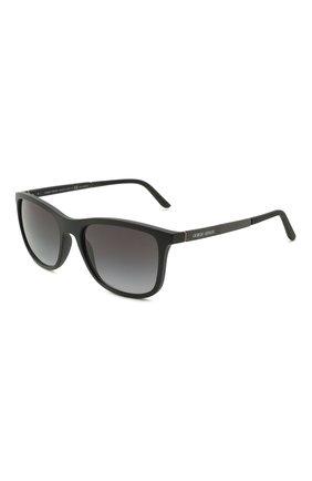 Мужские солнцезащитные очки GIORGIO ARMANI черного цвета, арт. 8087-5042T3   Фото 1