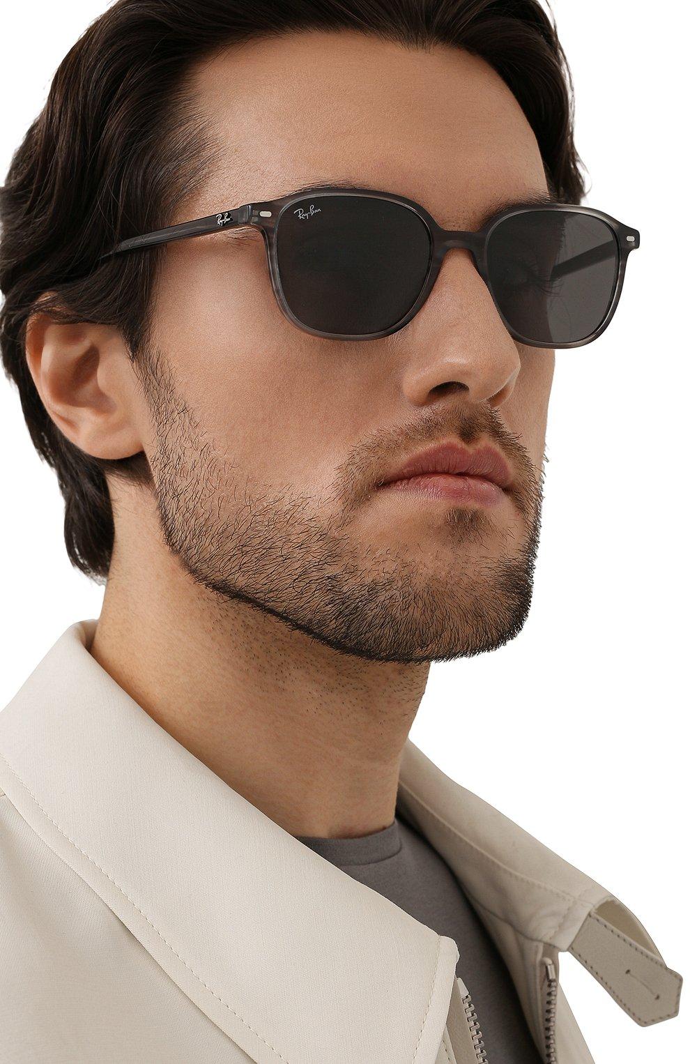 Женские солнцезащитные очки RAY-BAN серого цвета, арт. 2193-1314B1 | Фото 3