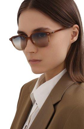 Женские солнцезащитные очки RAY-BAN светло-коричневого цвета, арт. 2193-1328GD | Фото 2