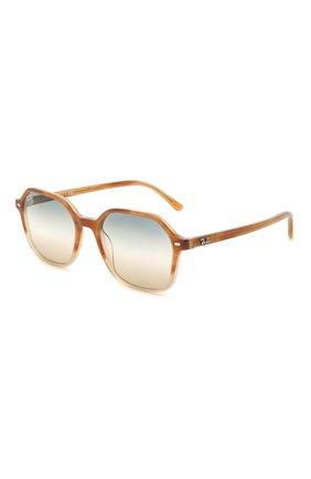 Женские солнцезащитные очки RAY-BAN светло-коричневого цвета, арт. 2194-1328GD | Фото 1
