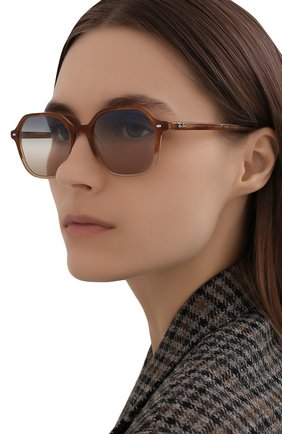 Женские солнцезащитные очки RAY-BAN светло-коричневого цвета, арт. 2194-1328GD | Фото 2