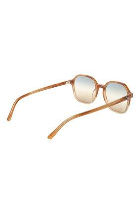 Женские солнцезащитные очки RAY-BAN светло-коричневого цвета, арт. 2194-1328GD | Фото 5