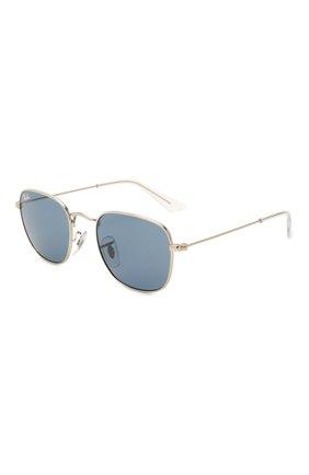 Детские солнцезащитные очки RAY-BAN синего цвета, арт. 9557S-212/80   Фото 1 (Оптика Гендер: оптика-унисекс; Очки форма: Прямоугольные)