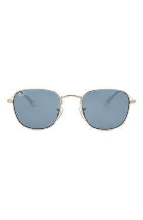 Детские солнцезащитные очки RAY-BAN синего цвета, арт. 9557S-212/80   Фото 2 (Оптика Гендер: оптика-унисекс; Очки форма: Прямоугольные)