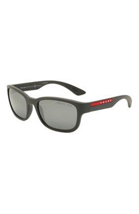 Мужские солнцезащитные очки PRADA LINEA ROSSA темно-серого цвета, арт. 05VS-UFK07H | Фото 1