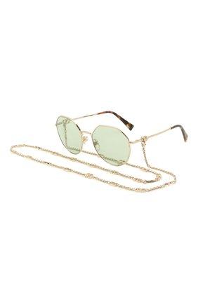 Женские солнцезащитные очки VALENTINO светло-зеленого цвета, арт. 2043-3003/2 | Фото 1