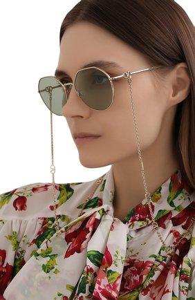 Женские солнцезащитные очки VALENTINO светло-зеленого цвета, арт. 2043-3003/2 | Фото 2