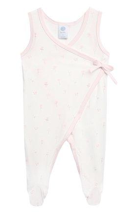 Детский комплект из комбинезона и лонгслива SANETTA светло-розового цвета, арт. 221630 | Фото 2