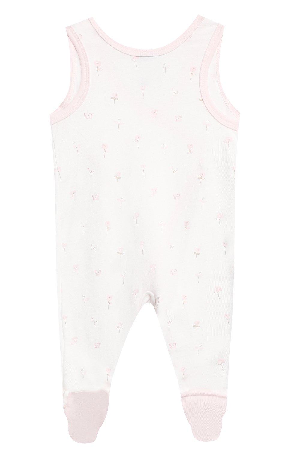 Детский комплект из комбинезона и лонгслива SANETTA светло-розового цвета, арт. 221630 | Фото 3