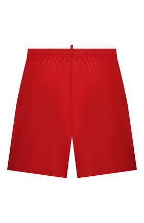 Детские плавки-шорты DSQUARED2 красного цвета, арт. DQ0278-D00QK | Фото 2
