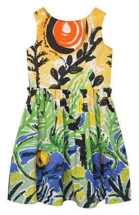 Детское хлопковое платье MARNI разноцветного цвета, арт. M00156-M00IT | Фото 1